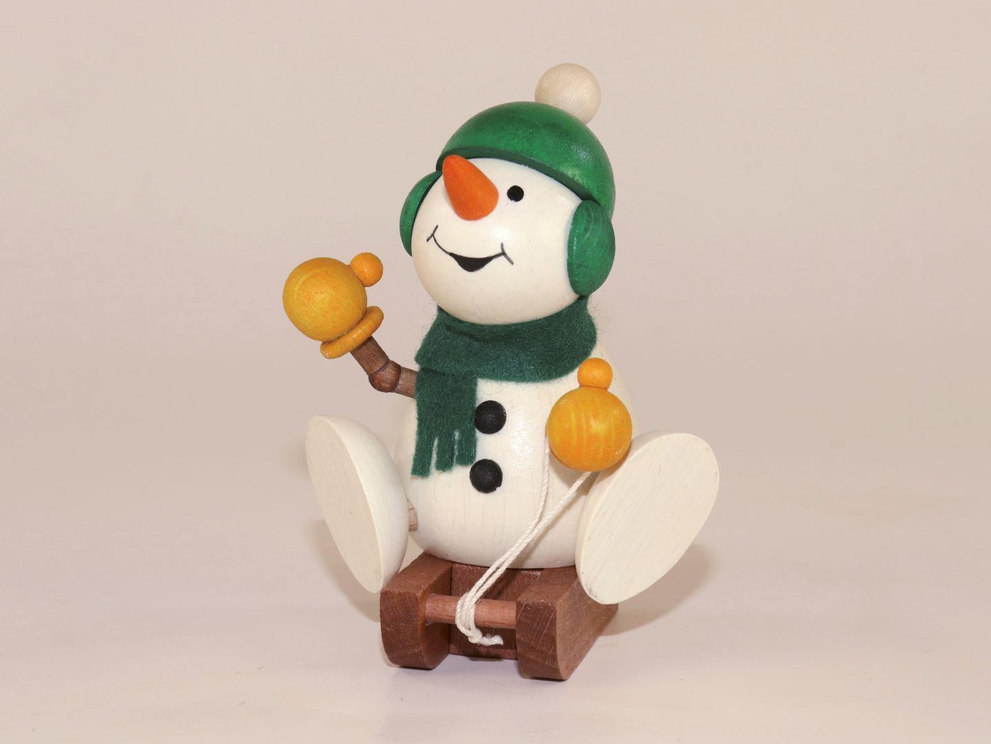 Schneemann auf Schlitten als Weihnachtsdeko kaufen